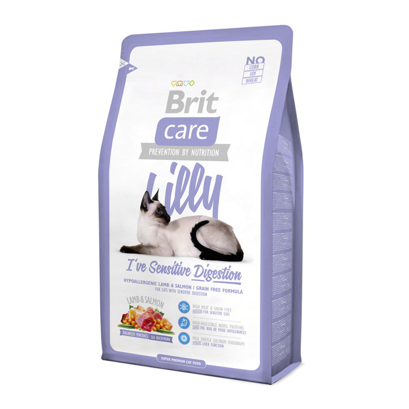 купить Brit Care для котов LILLY Sensitive Digestion (ягненок/лосось)